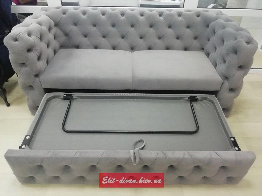 авторский серый диван
