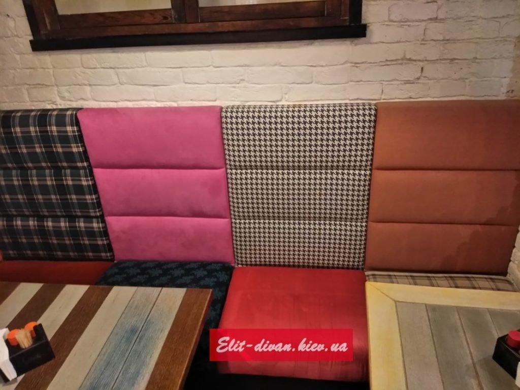 разноцветная мебель в ресторан