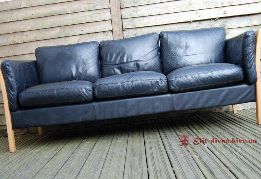 Синій прямий диван на замовлення