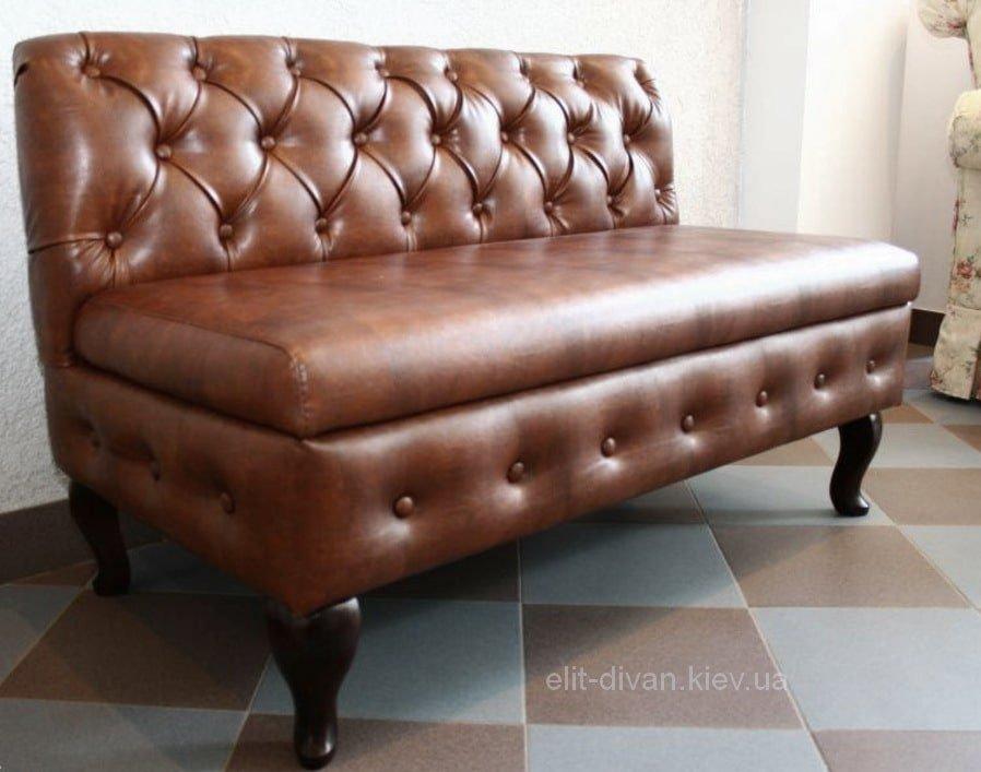 Коричневий прямий диван