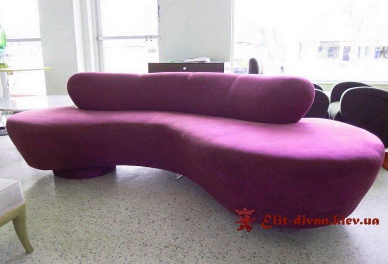 Рожевий прямий диван