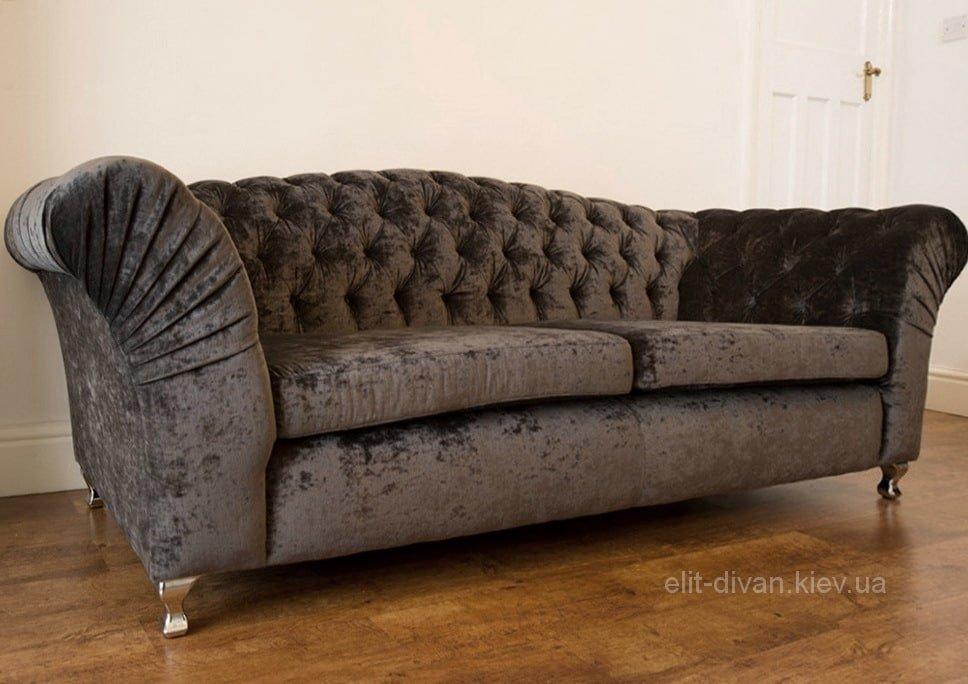 Сірий прямий диван