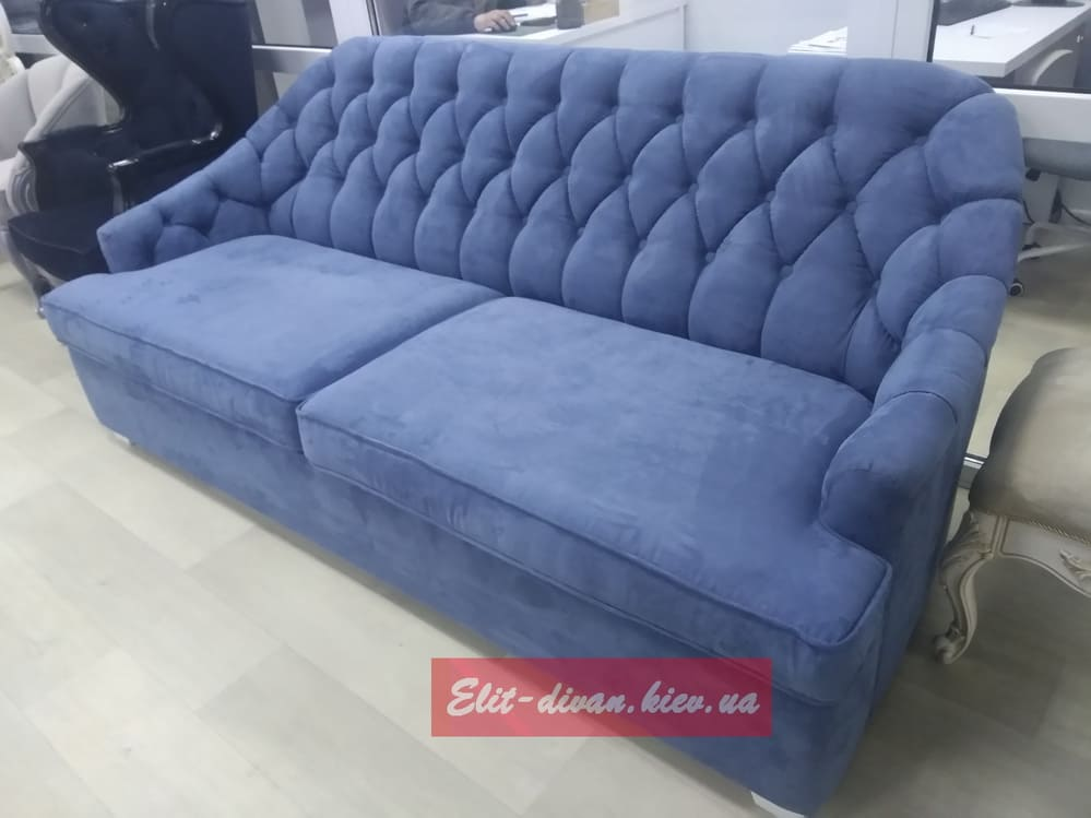 синий диван раскладной с кретной стяжкой