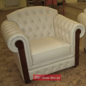 Кресло из кожи на заказ Честер
