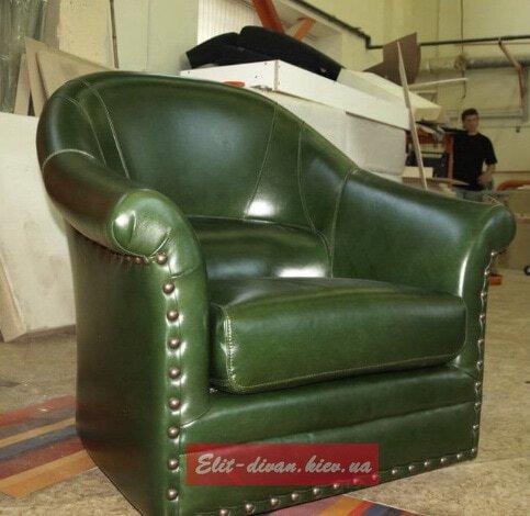 Кресло из кожи на заказ