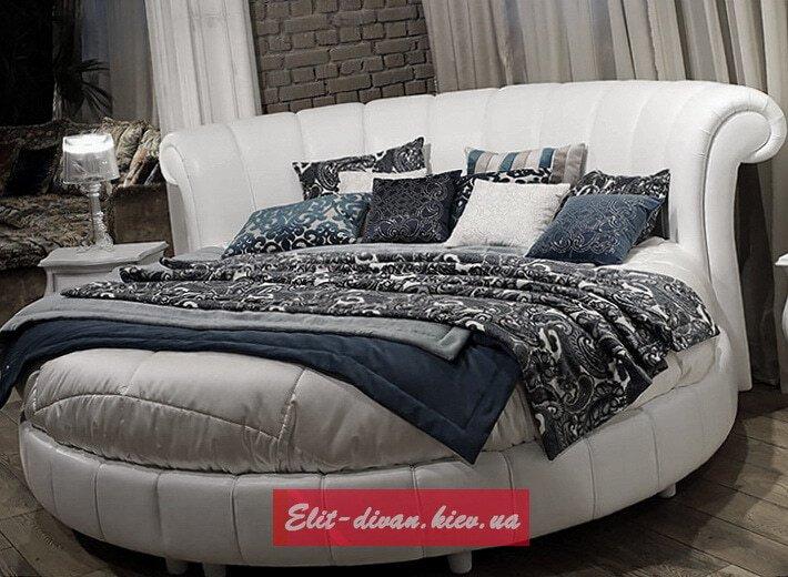круглая кровать с кареетной стяжкой под заказ