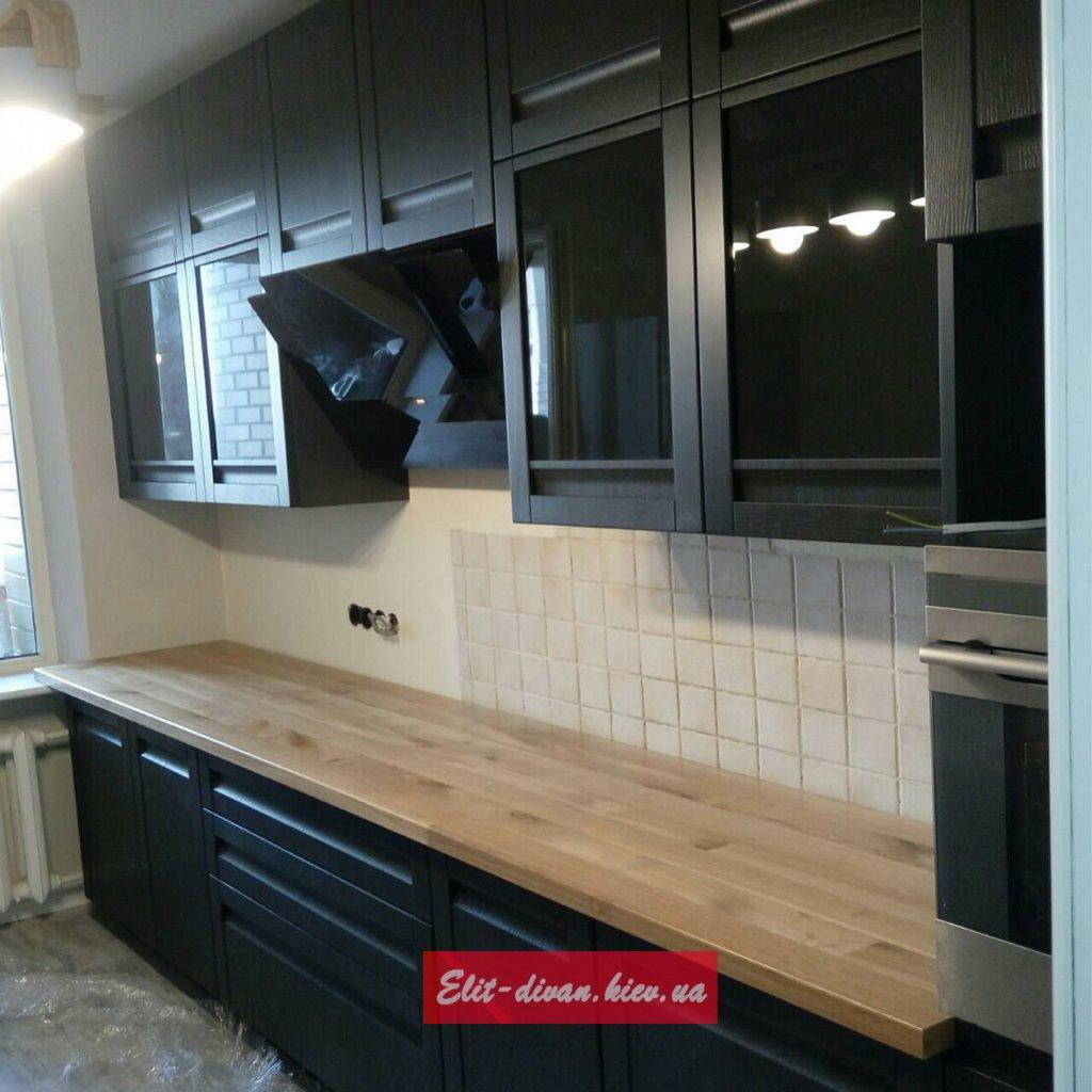 кухня из массива дуба ВИшневое