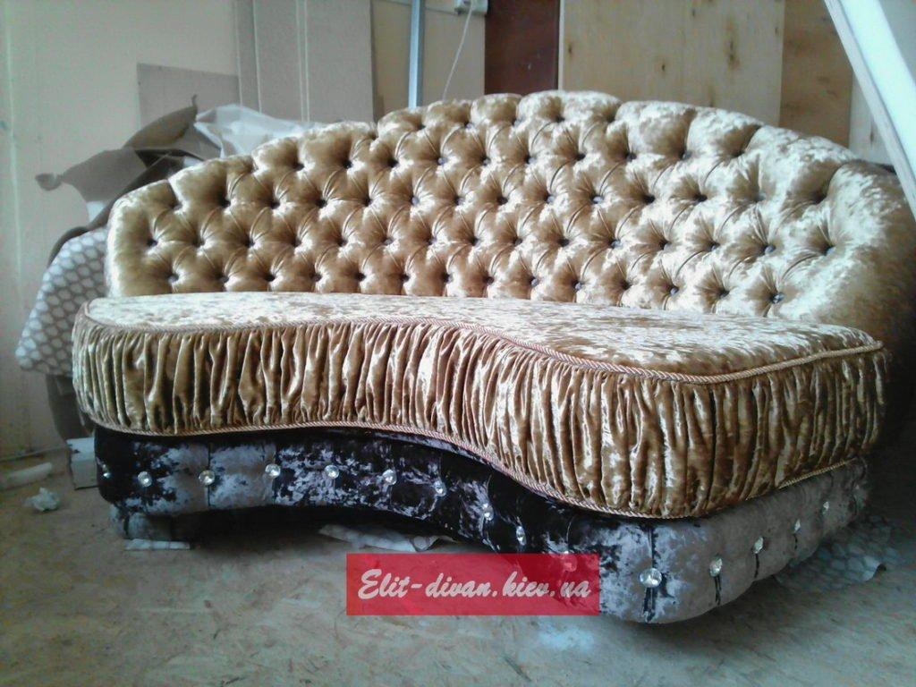 прямой округлый диван