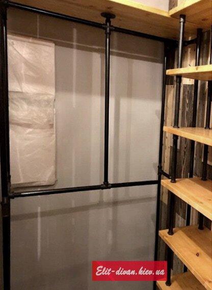 Изготовление гардеробных  в стиле loft