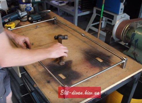 стеллаж деревянный лофт