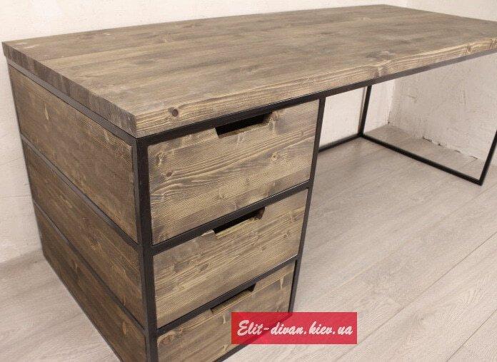 столы из дерева в стиле лофт на заказ