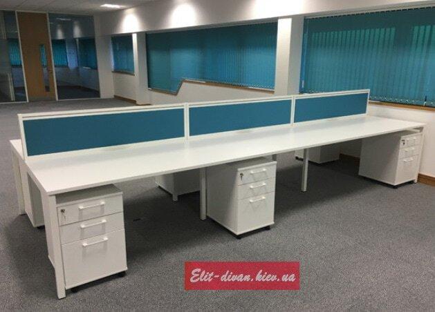 офисные столы с перегородкой под заказ