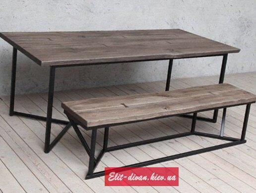Изготовление столов лофт из дерева