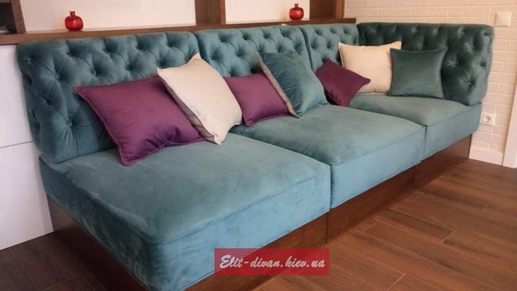 диван банкетка с подушками