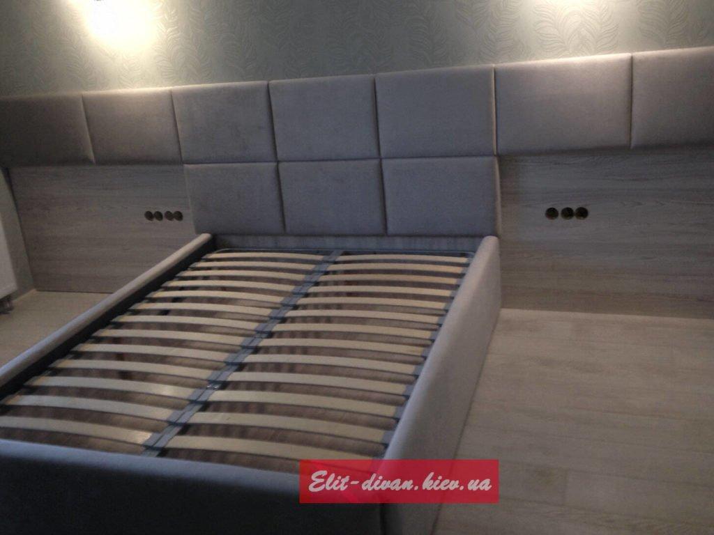 кровать Дизайнерские  со стеновой панелью под заказ