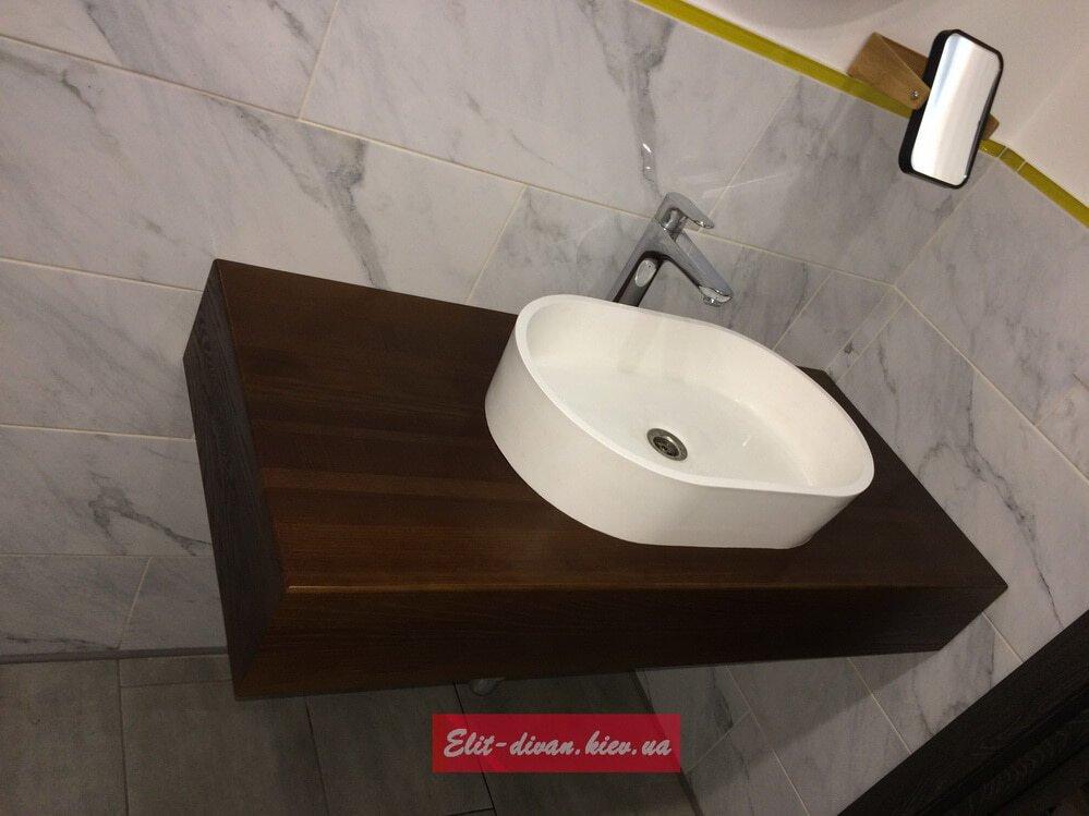 подвестная тумба в ванную на заказ