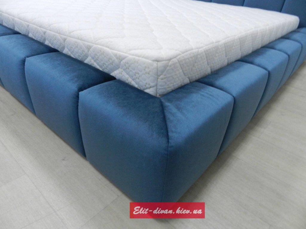 заказать мягкую мебель синего цвета элитную