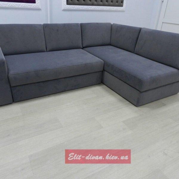 угловой серый диван на заказ
