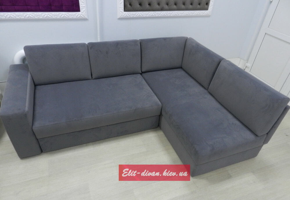 угловой серый диван гостиную