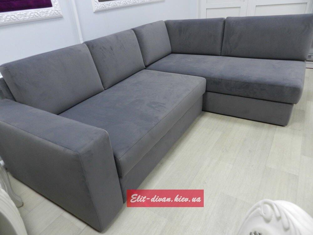 угловой серый диван гостиную на заказ