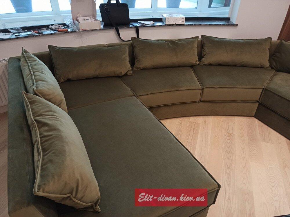 диван нестандартной формы для гостиной под заказ Киев
