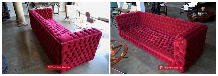дизайн проект пурпурового дивана на заказ