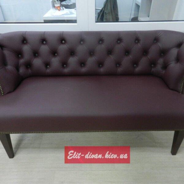диван честер для кафе бордовый