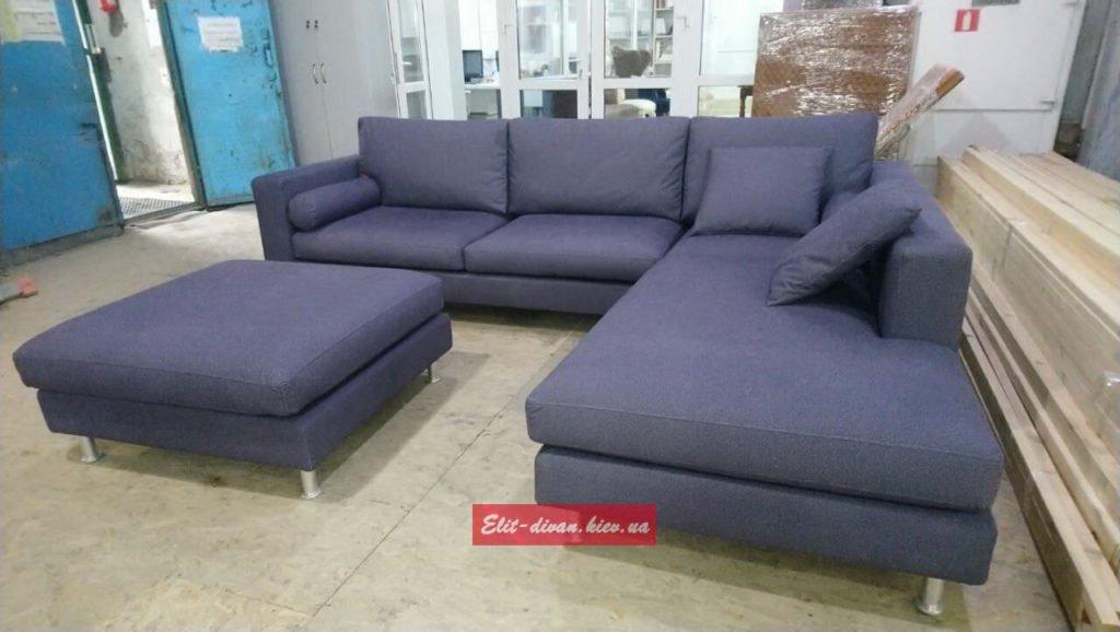 с образный модульный диван с подушками