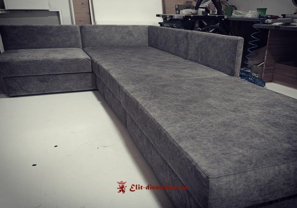 изготовление моудльных диванов со спальным местом на заказ с нишей для белья