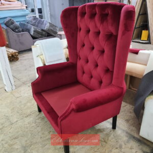 красное кресло Честер под заказ