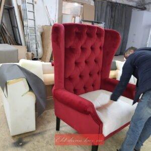 произвдство красного кресла на заказ