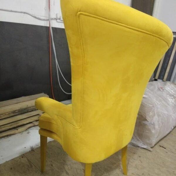 дизайнерская мягкая мебель желтого цвета