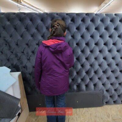 как делают стеновые панели с каретной перетяжкой