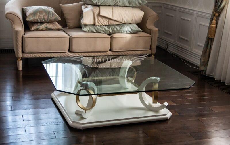 диван и столик из стекла на заказ